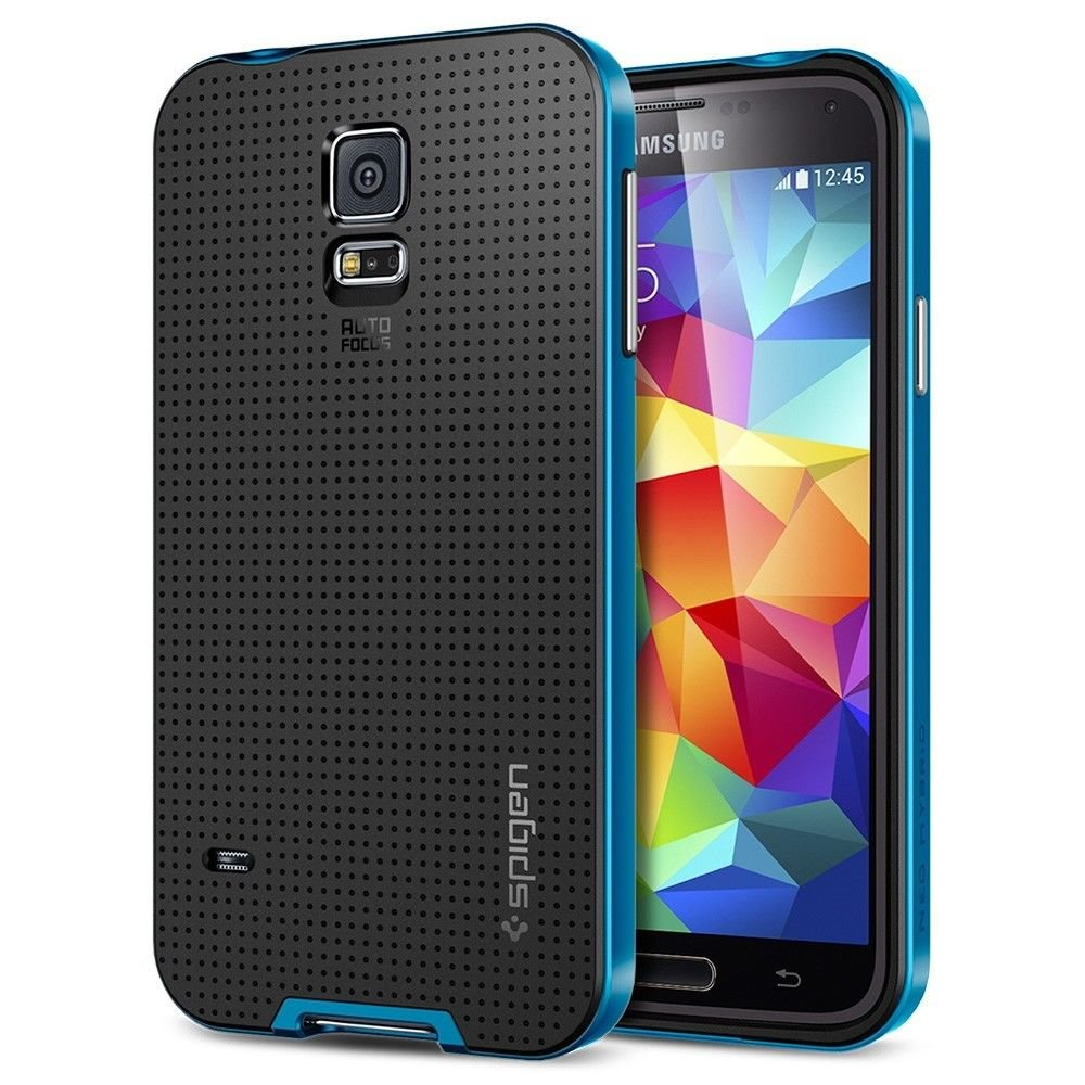 Spigen GALAXY S5 Case [[ NEO HYBRID ]] Color Series - Slim Grip Design Electric Blue
