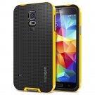 Spigen GALAXY S5 Case [[ NEO HYBRID ]] Color Series - Slim Grip Design in Reventon Yellow