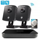 Zmodo Replay 720p 4CH NVR 2 Indoor Wireless Two-Way Audio Camera Home Security