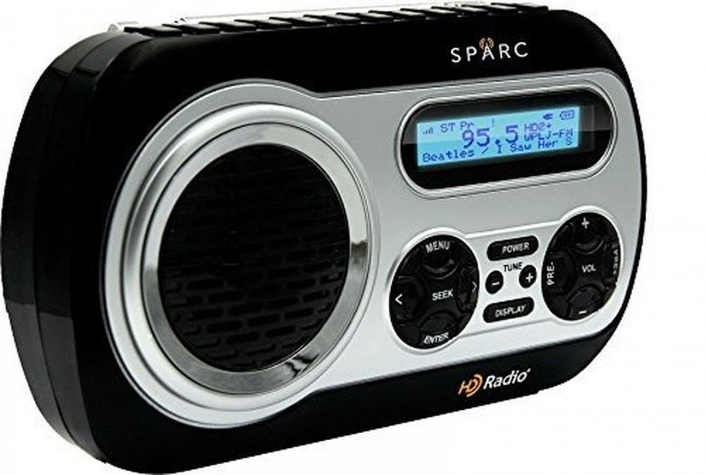 SPARC HD Radio SHD TX2 Portable Radio with AM/FM & HD Radio Tuners Built in
