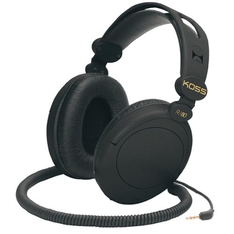 Koss R 80 Over Ear Headphones Black