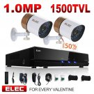 ELEC 960H Video Security System 4 Channel HDMI DVR Surveillance Kit CCTV with 2