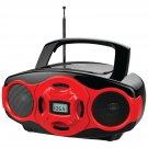 NAXA Electronics Portable MP3 CD Boombox and USB Player (Red) New