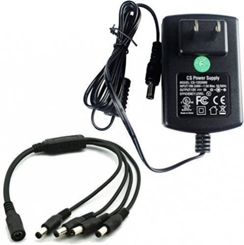 AC To DC Power Supply Adapter 100-240V to12V 2A 2000mA Switching +4 Split Power