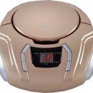 Sylvania Portable CD Boombox with AM FM Radio (Champagne) New