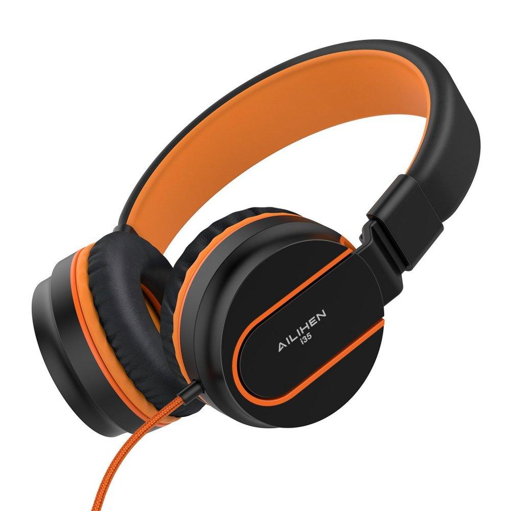 Ailihen I35 Stereo Lightweight Foldable Headphones Adjustable Headband Headsets