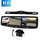"Pyle PLCMDVR8 HD Vehicle Backup System 4.2"" DVR Dual Camera Rearview Mirror"