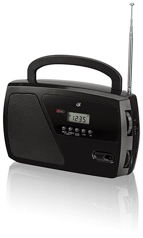 GPX, Inc. R633B Portable Shortwave AM/FM Clock Radio (Black), New