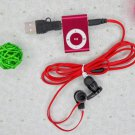 MINI clip MP3 Player with Micro TF/SD card Slot with cable/USB+earphone No retail box Free shipping