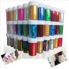 12 Pcs Nail Art Transfer Foils Sticker Adhesive Nail Polish Wrap