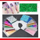 25 Pcs Nail Art Stickers Nail Transfer Foil Decals Foils Polish Adhesive Wraps
