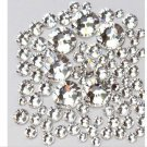 1440 Pcs Crystal Clear Rhinestone Nail Art Flatback Non Hotfix Nail Jewelry Accessories