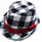 Chidren's Plaid Boys Fedoras baby cap dicer top fedora hat #1