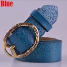 Women's Vintage Belt Leather Belt Blue