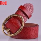 Women's Vintage Belt Leather Belt Red