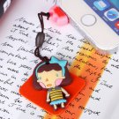 3D Cartoon Little Girl Character Cleaner Earcap Silicone 3.5mm Anti-Dust Earphone Jack Plug