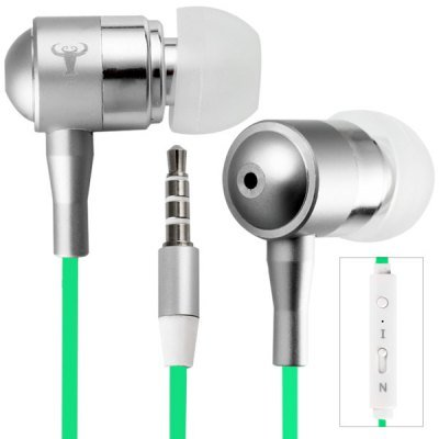 Luminous Wire In-ear Earphone 1.2m Flat Cable Headphone with Mic for iPhone