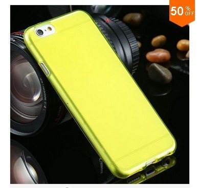 Flip Open Full Clear Case For Iphone 6  4.7inch Soft Transparent TPU Silicon (COLOR  5)