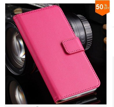 Leather Cover for iphone 6, 4.7'' Case Flip Open Stand Holder Card Slot  (Color 5)