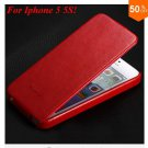 Luxury Retro Crazy Horse Cover for iphone 5 5S 5g Flip PU Leather  ( color  3