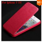 Luxury Retro Crazy Horse Cover for iphone 5 5S 5g Flip PU Leather  ( color  5