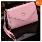 Pouch Wallet PU Leather Case for iphone 5 5S 5C 4 4s, for Samsung Galaxy S3 S4 S5  ( color 3