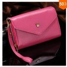 Pouch Wallet PU Leather Case for iphone 5 5S 5C 4 4s, for Samsung Galaxy S3 S4 S5  ( color 5