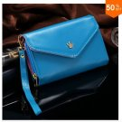 Pouch Wallet PU Leather Case for iphone 5 5S 5C 4 4s, for Samsung Galaxy S3 S4 S5  ( color 8