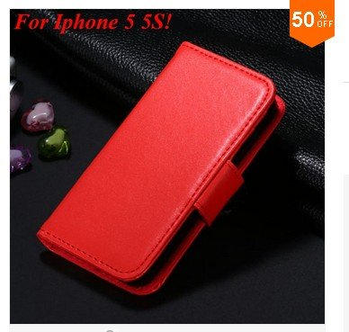 Photo Frame Flip PU Leather Cover Case For Iphone 5 5S  ( COLOR 7