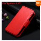 Photo Frame Flip PU Leather Cover Case For Iphone 4 / 4S  (COLOR 2