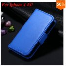 Photo Frame Flip PU Leather Cover Case For Iphone 4 / 4S  (COLOR 4