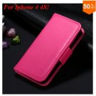Photo Frame Flip PU Leather Cover Case For Iphone 4 / 4S  (COLOR 5