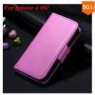 Photo Frame Flip PU Leather Cover Case For Iphone 4 / 4S  (COLOR 6