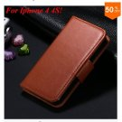 Photo Frame Flip PU Leather Cover Case For Iphone 4 / 4S  (COLOR 7