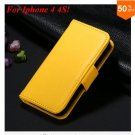 Photo Frame Flip PU Leather Cover Case For Iphone 4 / 4S  (COLOR 8