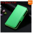 Photo Frame Flip PU Leather Cover Case For Iphone 4 / 4S  (COLOR 9