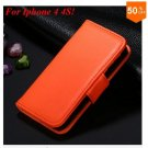 Photo Frame Flip PU Leather Cover Case For Iphone 4 / 4S  (COLOR 10