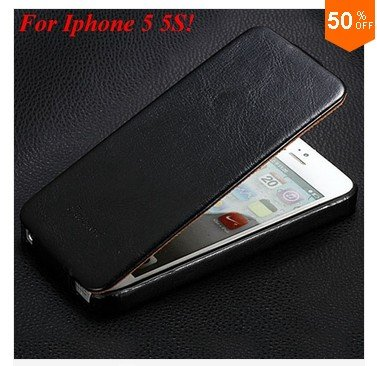 Luxury Retro PU Leather Case For iphone 5 5S 5G Flip Crazy Horse Cover ( color 1