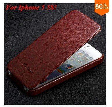 Luxury Retro PU Leather Case For iphone 5 5S 5G Flip Crazy Horse Cover ( color 4