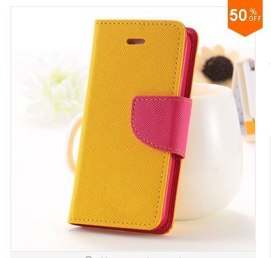 Full Case For Iphone 5 5s 5g Flip Leather  Cover With Buckle  (color 4