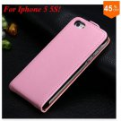 Luxury Genuine Leather Flip Cover Case For Iphone 5 5S 5g  (color 9