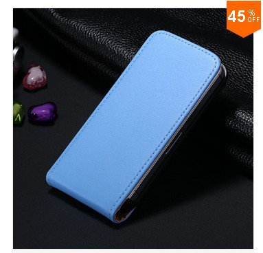 High-End Design Vertical Fip Genuine Leather Case for iPhone 4 4S 4g   (color  4