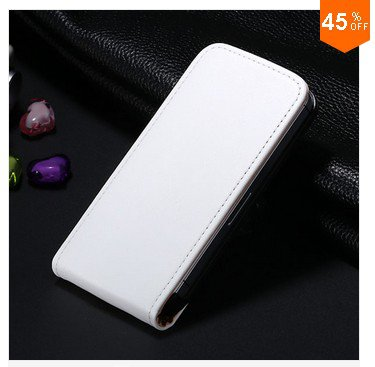 High-End Design Vertical Fip Genuine Leather Case for iPhone 4 4S 4g   (color  9
