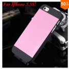 Deluxe Metal+Black TPU Brush Case For Iphone 5 5s 5g  ( color 6