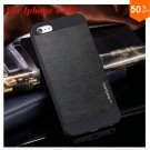 Deluxe Metal+Black TPU Brush Case For Iphone 4 4s 4g  (color 1