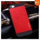 Deluxe Metal+Black TPU Brush Case For Iphone 4 4s 4g  (color 2