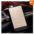 Deluxe Metal+Black TPU Brush Case For Iphone 4 4s 4g  (color 5