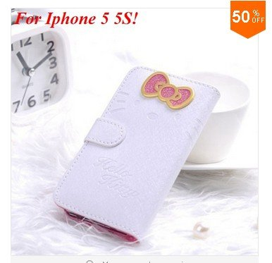 PU Leather Case for iphone 5 5s 5g With Card Slot (color 2