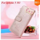 PU Leather Case for iphone 5 5s 5g With Card Slot (color 5