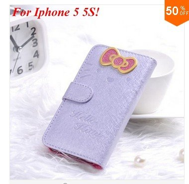 PU Leather Case for iphone 5 5s 5g With Card Slot (color 6